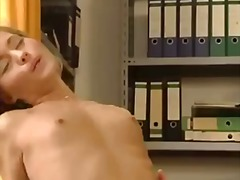 Blonde office girl gets plumbed