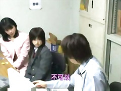 Japanese shoplifted schoolgirl with mother hook-up or police part 1