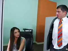 Spectacular secretary giselle leon get cunny eaten and penetrated on her office desk