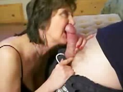 Mature brunette is completely glad with his stiffy