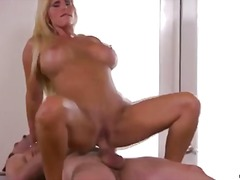 Mummy gets jizz flow throughout large boobs