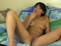 Gf with meaty puffies finger pulverizes herself