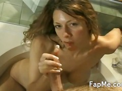 bites, blanches, jouer, filles sexy