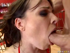 Jock devouring wench dana dearmond likes her fellow's sausage soddening humid in her throat