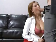 Wild office tart sara stone blocks her steamy throat with a thellock rock-hard monster