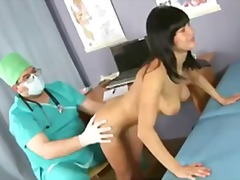 Succulent brunette dame passes the exclusive gyno exam