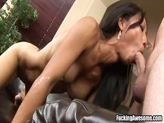 Tia ling drilled onto her throat