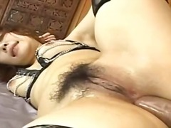 Remarkable asian assfuck screw with panties