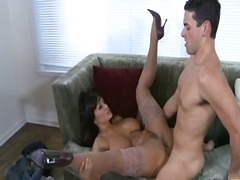 Lisa ann compels herself onto the youthful boy