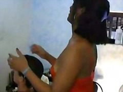 Inexperienced ladyboy way smash brazilian