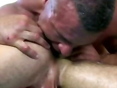 Magnificent straight stud deep-throats fit mature gay massagist