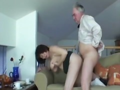 Big-titted granny ivana spunked right on her taut fur covered honeypot