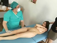 Embarassing gyno exam for lovely timid chick