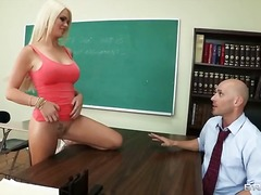 deepthroat, blowjob, schule, uniform, blond, hardcore