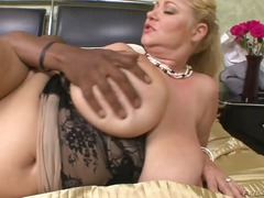 Lusty jizz-shotgun greedy chubby blonde bitch