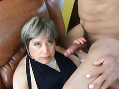 mature, crossdressing, fucking, cumshot, sucking, ass