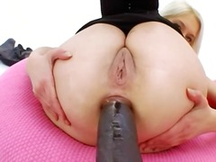 black, toys, dildo, ass, tight, anal