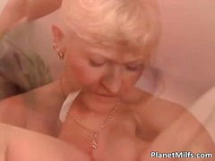 These mature and scorching blondes plumb with men