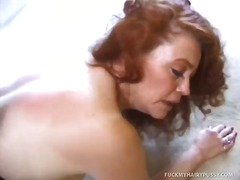 hairy, oral, blowjob, redhead, mature, anal, hardcore