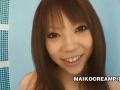 Adorable japanese doll ai oosato creampied