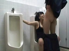 Woman roped on public toilet used