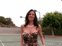 Turned on fascinating brunette mummy veronica