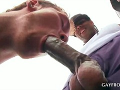 gay, ebony, interracia, anal