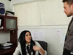 Thick boob secretary audrey bitoni takes boss shaft in order to keep her job