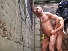 gay, anaal, buiten, kont, hard
