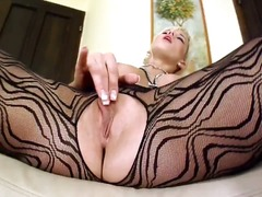 Extraordinary blonde temptress cindy dollar poses