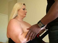 Desiree gets massive ebony manstick