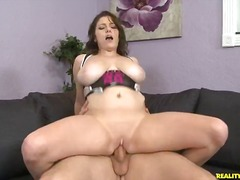 Krista rails that dick as her gigantic succulent breasts juggle around.