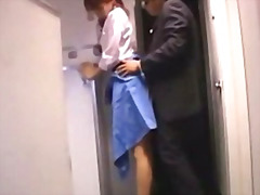 Stewardes getting her twat ravaged from behind by passenger facial on the airplane