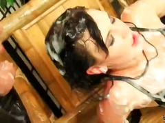 After her jizz-dominators adore her arse and spectacular, taut assets for a while they get down to it, usin...