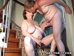 Chubby inexperienced wifey fucktoys and deep-throats and gets pulverized