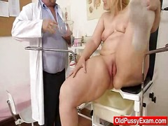 Blond-haired phat aged investigated by gash doctor