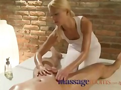 Rubdown rooms masseur has a ejaculating climax as she rails client rigid