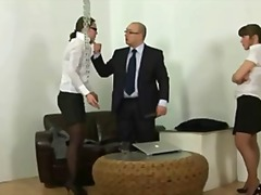 Youthfull secretary gets slapped by boss