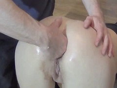 Going knuckle deep the wifes bootie for the very first time