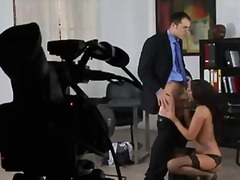 Backstage in the office with super hot and kinky secretary cipriana and her intelligent boss