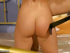 Delicious kathia nobili is bounded and gets her knockers pinned with clothes pegs by her predominant sir