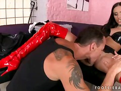Fetish-addicted brunette sasha rose lets her miniature slit eaten by super hot fellow