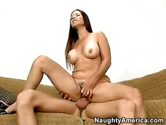 Bawdy floozy selena steele jamming her constricted molten honeypot on an agressive knob