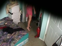 Switching cloths on voyeur cam