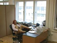 Business damsel voyeur video