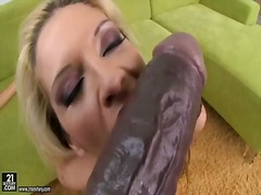 Small and slim stunner bambi with elegant kinks and nice face tastes xxl fake penises