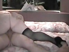 fetish, pretty, plump, wife, position, stockings, cunt, showing, bed