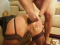 Extraordinary assfuck going knuckle deep and later with a bottle