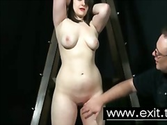 Restrain bondage slapping and ache for slave hoe sandy
