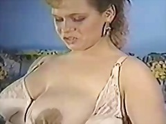 German cow milking her gigantic melons